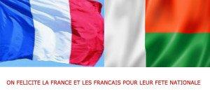 drapeaux malgache et francais